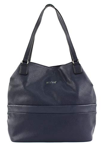 Mustang Damen Pittsburg Emily Shopper Lvo Tote, Blau (Dark Blue), 12x34x32 cm