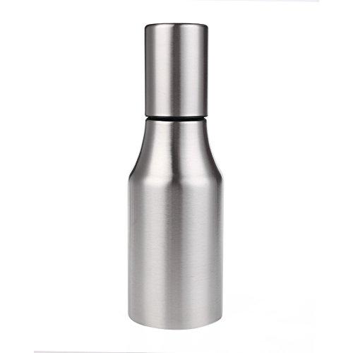 Edelstahl Öl Flasche, HMMJ Würze Spender Flasche, Essig Sirup Cruet Liquid Auslaufsicher mit Ausguss Auslauf (750ml)