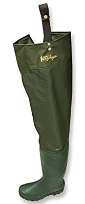Michigan Waterproof Nylon Hip Waders for Fly/Coarse Fishing Size 12 by Michigan