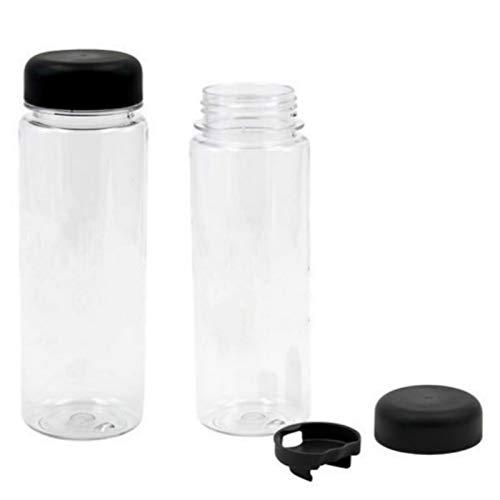 QFERW1 Stück 500 ml Kunststoff Sport klar Obst Flasche Zitronensaft leicht trinkbar Wasser haben englische Buchstaben-in Wasserflaschen von Home & Garden, weiß -