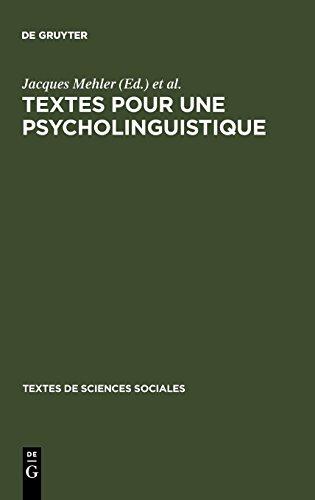 Textes Pour Une Psycholinguistique