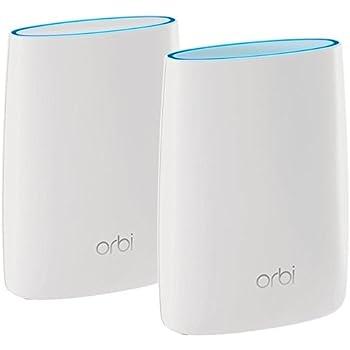 Orbi Wifi RBK50 Sistema Router e Satellite con Copertura Totale per Casa, Compatibile con Tutti i Modem/Router, Copertura fino a 350 m²