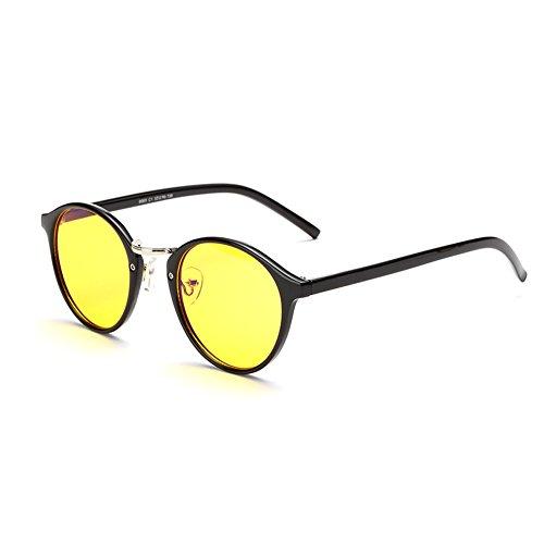 Cyxus luce blu filtro UV blocking occhiali [anti affaticamento] per Gioco/TV/Smartphone/Computer,lettura eyewear, unisex (uomini/donne/Juniors), nero Montatura Lente Giallo