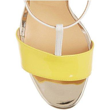LvYuan Damen-Sandalen-Kleid Lässig Party & Festivität-Lackleder-Stöckelabsatz-Andere-Gelb Yellow