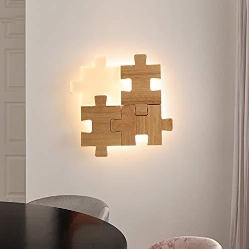 DYV 18W Eisen Wandleuchte LED Moderne Schlichtheit Eiche geformte Halterung Licht Persönlichkeit Kreativität Acryl Lampenschirm für Restaurant Küche Schlafzimmer Badezimmer Beleuchtung -