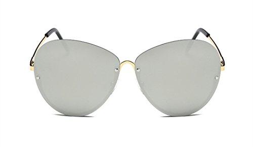 Wer Bin Ich Große Kiste Mode Persönlichkeit Der Frauen Der Männer Sonnenbrille Rahmenlosen,Grey
