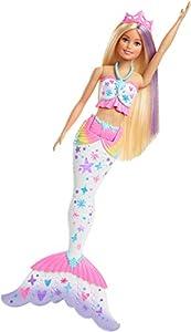 Barbie Dreamtopia Crayola Sirena color mágico, muñeca con accesorios (Mattel GCG67)