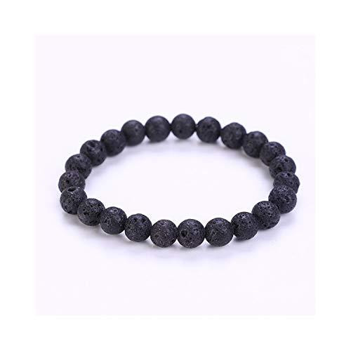 Awertaweyt Armband aus Glasperlen, New Jewelry Transfer Luck Purple Bracelet Men Chakra Yoga Beads Volcanic Stone 8Mm Natural Stone Beads Bracelets for Women Volcanic Stone -