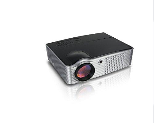 Adeneng® Mini LED proyector 4000 lúmenes portátil proyector del teatro casero (negro,...