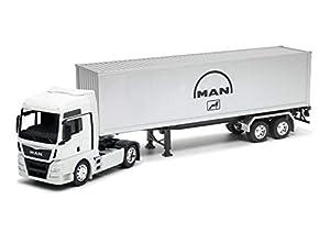 Welly Man TGX - Camión Coleccionable de Juguete (Escala 1/32º), Color Gris