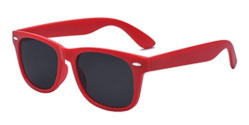 ALWAYSUV Kinder Bequem Polarisierte Sonnenbrillen für Jungen und Mädchen Alter 3-10 Brillenfassung Rot