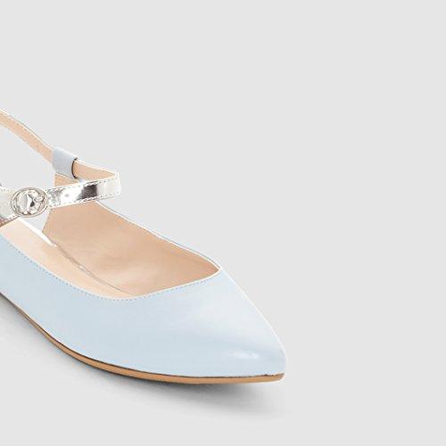 R Edition Frau Ballerinas Mit Offener Fersenkappe Blau
