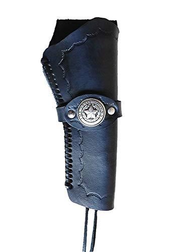Westernholster Holstertasche schwarz Lone Star Handarbeit Rindsleder Peacemaker Colt (Rechts)