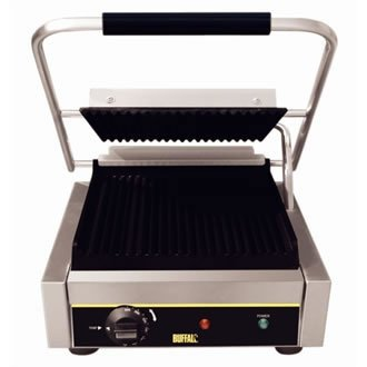 Buffalo bistro contact grill grande a coste, 210x 380x 390mm griglie
