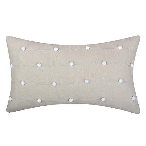 jw handgefertigt Accent Kissen Ball Top Kissen Dekorative Kissenbezüge für Home Sofa Auto Schlafzimmer Büro Stuhl Decor 30,5x 50,8cm, Leinen, a, 12 x 20 Inch - Handwerker Wohnzimmer Stuhl