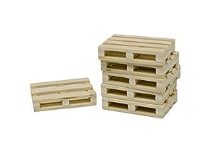 Niños Globe 1000576 - paletas de madera, Accesorios Granja, 8 piezas