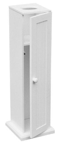 Premier Housewares Freistehender Toilettenpapierhalter 65x20x20 cm weiß