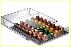 Plexcollection cassetto porta cialde dispenser universale base per macchina caffe' espresso