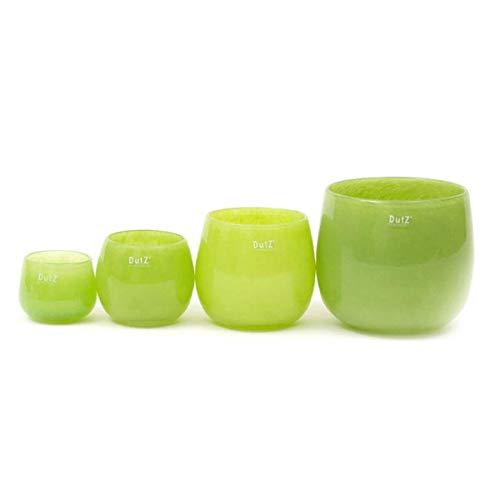 Dutz Glas Vase, Pot - lime green, Höhe 14cm, Durchm. 16 cm (Lime Green Gläser)