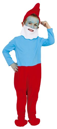 Cesar C136-001 - Costume da Grande Puffo (Taglia 92 cm)