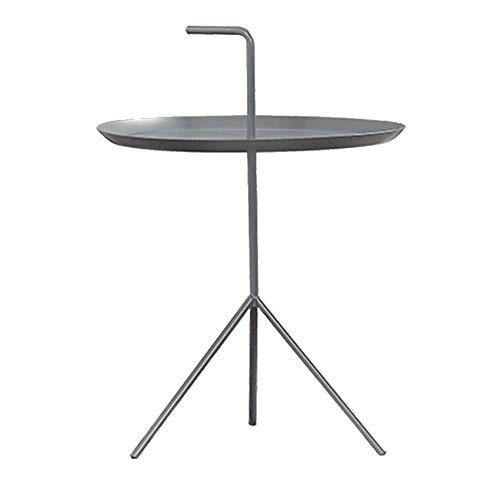 CZZ Semplice Tavolino Angolare con Tavolo, Tavolino da caffè Portatile in Ferro Battuto, Adatto per Camera da Letto con 2 Letti,A,48 * 48 * 50cm