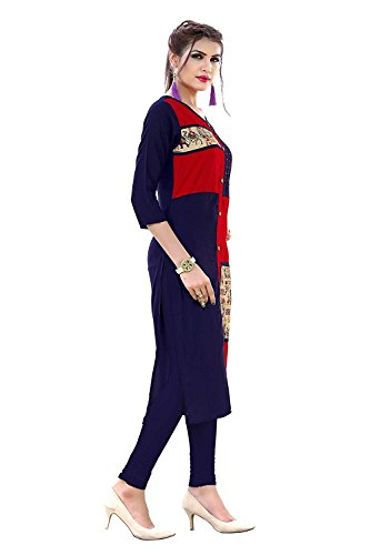 Shyam Export (Lowest Rate Latest Trendz Reyon, Cotton, georgette Kurti For Women's/Girls's(KU-156)(Red)