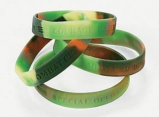 12 Camouflage Army Bracelets Party Bag Fillers for Children