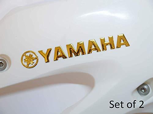 145x20mm GOLD Yamaha Motorrad Abzeichen Emblem Motorrad Kraftstofftank Aufkleber Sticker