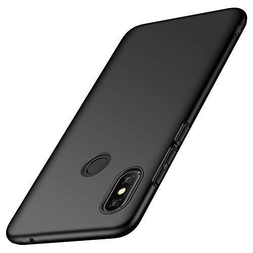 Toppix für Xiaomi Mi Mix 3 Hülle, Handyhülle PC Plastik (Slider lässt Sich herunterschieben) Hart Cover Slim Matt dünn-schlank-Leichte Schutzhülle für Xiaomi Mi Mix 3 (Schwarz) - 3 Slider-handy