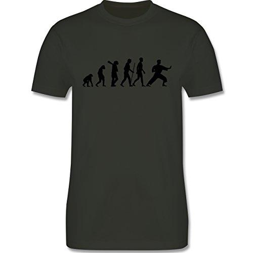 Evolution - Kampfsport Evolution - Herren Premium T-Shirt Army Grün