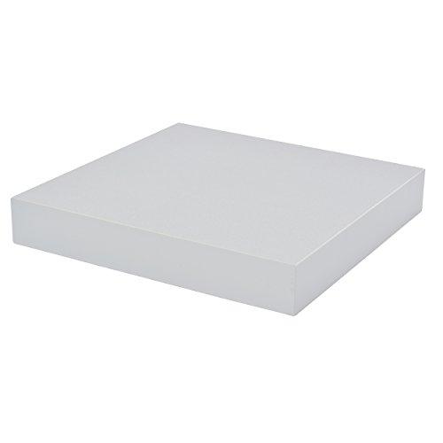 Duraline-mensola da parete, colore: argento, 23,5 x 23,5 x 38 cm