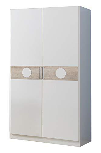Wimex Kleiderschrank/ Drehtürenschrank Kimba, (B/H/T) 90 x 175 x 58 cm, Weiß