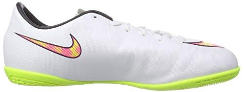 Nike Jr Mercurial IC Jungen Fußballschuhe Weiß (White/volt-hyper pink-black 170)