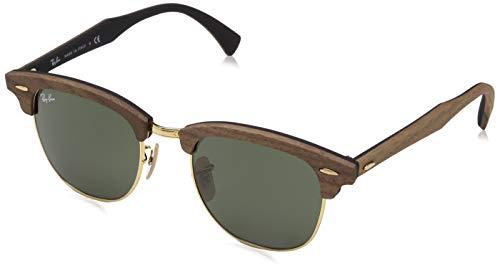 Ray-Ban Herren 0RB3016M Sonnenbrille, Schwarz (Walnut Rubber Black), 50