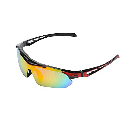Jiuyizhe Fahrradbrille Fahrradbrille Fahrradbrille Fahrradbrille Farbe passend für Corsa Sportbrille rot