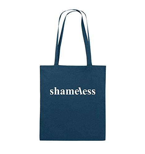 Comedy Bags - shameless - LOGO - Jutebeutel - lange Henkel - 38x42cm - Farbe: Schwarz / Pink Navy / Weiss