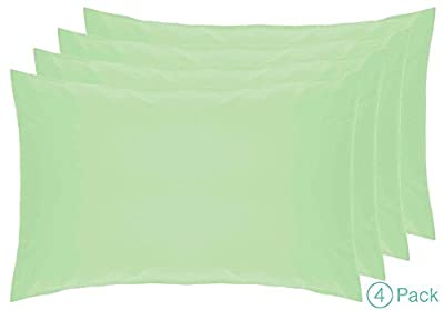 Belledorm 4 PACK 100% Cotton Housewife Pillowcases, 200 Thread Count Percale
