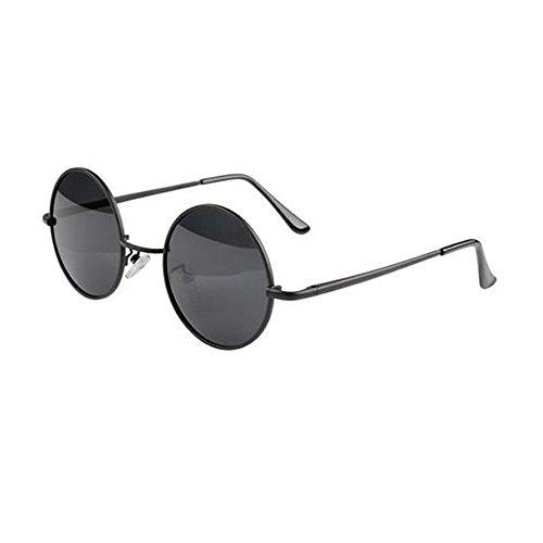 Abeillo Fashion Classic Unisex überdimensioniert Retro Weinlese-schwarze Runde Circular Frame Shades Gläser Großes Sonne