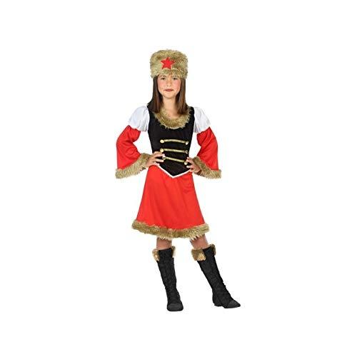 Mädchen Russisch Kostüm - ATOSA 56815 COSTUME RUSSIAN WOMAN 7-9, Mädchen, Rot/Schwarz, 7 a 9 años