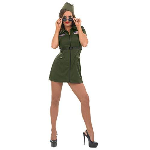 Fun Shack Damen Costume Kostüm Womens Aviator Pilot ()