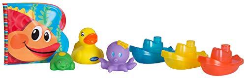 Playgro Badespielzeug Geschenk-Set, 7-teilig, Ab 6 Monaten, BPA-Frei, Playgro Bath Play Pack, 40156