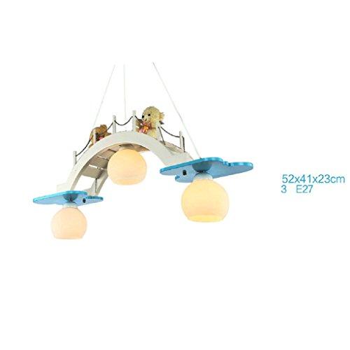 HOME Kinderzimmer Kronleuchter Augenschutz Beleuchtung Junge Mädchen Zimmer  Schlafzimmer Lichter Kreative Lampen ( Farbe : Blau