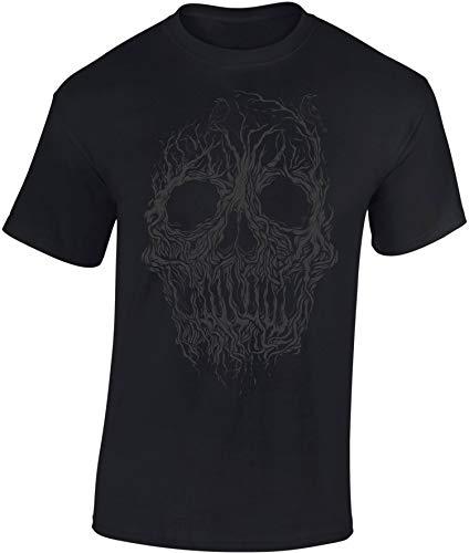 T-Shirt: Tree Skull - Shirt Herren Damen - Mann Männer Frau-en - Fantasy Horror Sci-Fi Kino - Totenkopf - Baum Wald - Geschenk Gamer - Zombie Apocalypse - Streetwear - Halloween (3XL)