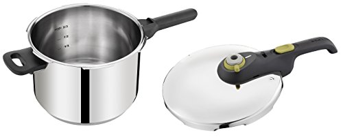 Tefal Secure 5 NEO - Set de ollas a presión de 6 l y 4 l de acero inoxidable con 5 sistemas de seguridad con sistema de apertura y cierre fácil,para todo tipo de cocinas incluido inducción