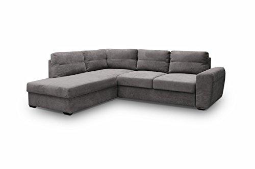 Ecksofa Sofa Eckcouch Couch mit Schlaffunktion und Bettkasten Ottomane L-Form Schlafsofa Bettsofa Polstergarnitur Wohnlandschaft – PRESTO