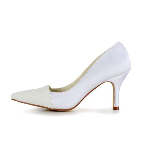 Jia Jia Wedding A3129 chaussures de mariée mariage Escarpins pour femme Blanc