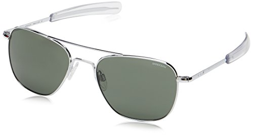Randolph Engineering Square Aviator Sunglasses With Green Lens 55 Green (Engineering Randolph Sonnenbrillen)