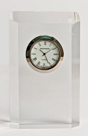 Schreibtischuhr / Kaminuhr aus Kristall - Geschenkverpackung - 109
