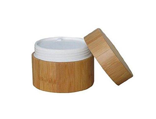 Tarros de bambú ecológico recargables con forro y tapa de bambú de 15, 30, 50 o 100 ml, para botella de crema, cosméticos, tonificadores, bálsamos de labios, maquillaje
