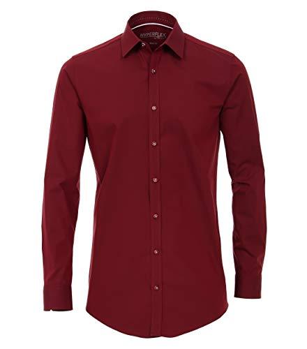 Venti Herren Businesshemd Hemd Body Fit Hyperflex (Rot 400), 40